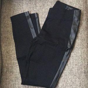 J. Crew Pixie Leggings with leather stripe